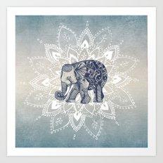 Elephant  Mandala Art Print