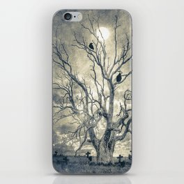 Raven's shelter II  (colour option) iPhone Skin