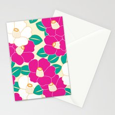 Japanese Style Camellia - Pink and White Stationery Cards