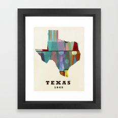 Texas state map modern Framed Art Print