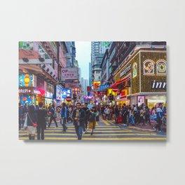Hong Kong Crossing Metal Print