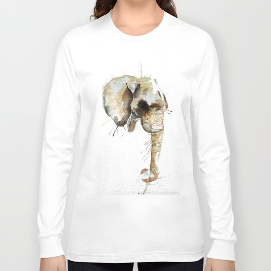 Elephant Head Long Sleeve T-shirt