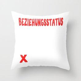 "A Great German Beer Tee Saying ""Beziehungsstatus Single Taken Malle"" T-shirt Design Social Status Throw Pillow"