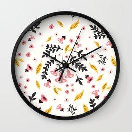 Scandi woodland Wall Clock