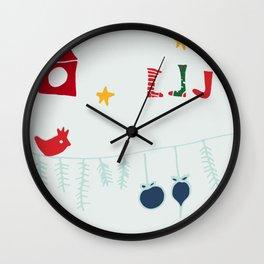 Holiday bird gray Wall Clock