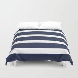 Navy Summer Stripes Duvet Cover