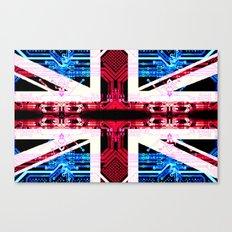 circuit board United Kingdom (flag) Canvas Print