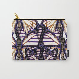 B&W  CONTEMPORARY MONARCH BUTTERFLY ABSTRACT Carry-All Pouch