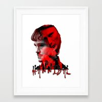 hannibal Framed Art Prints featuring HANNIBAL by PositIva