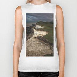 White cliffs of Beachy Head Biker Tank