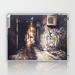 Lower East Side - Midnight Warmth on a Snowy Night Laptop & iPad Skin