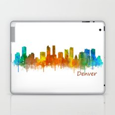 Denver Colorado City Watercolor Skyline Hq v2 Laptop & iPad Skin