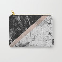Monochrome marble designer - rose gold Carry-All Pouch