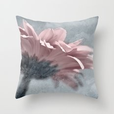 ICY GERBERA Throw Pillow