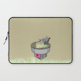 RABBITS AND ROOSTER ON COTTON CANDY MACHINE Laptop Sleeve