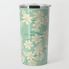 Turquoise Bloom Travel Mug