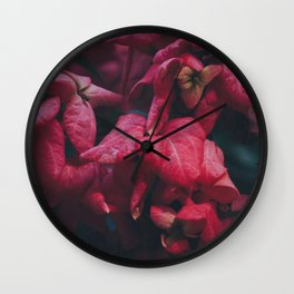 PINK - FLOWERS - FLORAL - PHOTOGRAPHY Wall Clock