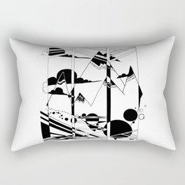 Terrain in Black and White Rectangular Pillow