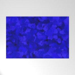 Rich Cobalt Blue Abstract Welcome Mat