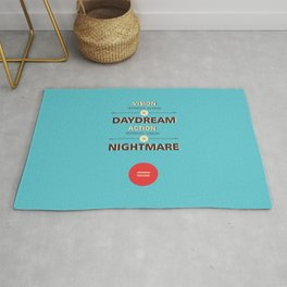Lab No. 4- Japanese Proverb Typography corporate startup quotes poster Rug