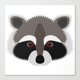 Raccoon Face Canvas Print