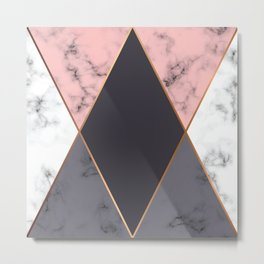 Geometric Rose Gold Metal Print