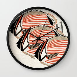 Fresh Fishes Wall Clock