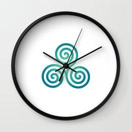 St. Patrick's Day Celtic Blue Triskelion #1 Wall Clock