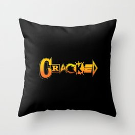 Elements of Cracked Throw Pillow