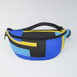 Rectangles - Blues, Yellow and Black Fanny Pack