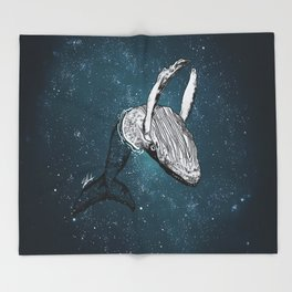 the universe wall Throw Blanket