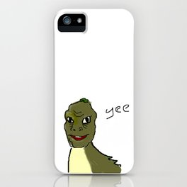 the crappy yee dinosaur which i drew on ms paint with a mouse iPhone Case