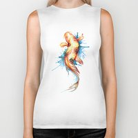 koi fish Biker Tanks featuring Koi Fish by Sam Nagel