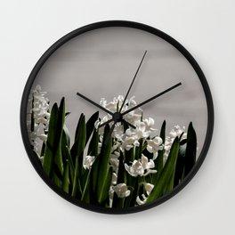 Hyacinth background Wall Clock