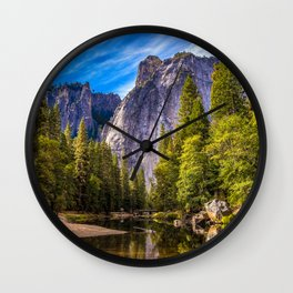 Mighty Mountains Wall Clock