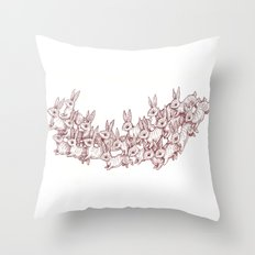Lepus Leap Throw Pillow