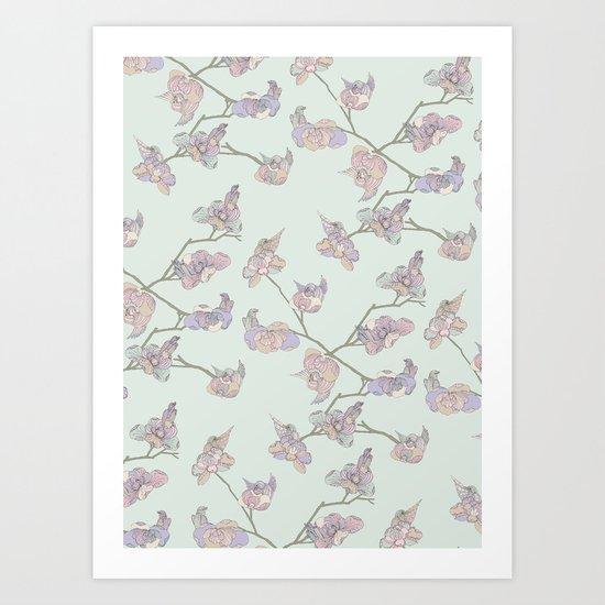 BIRDIE BIRD // Green Art Print