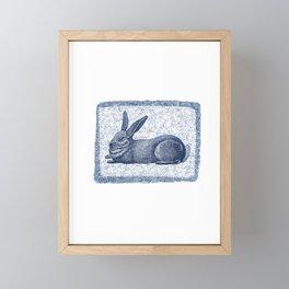 Rabbit print, Vintage Rabbit, Animal Wall Art Framed Mini Art Print