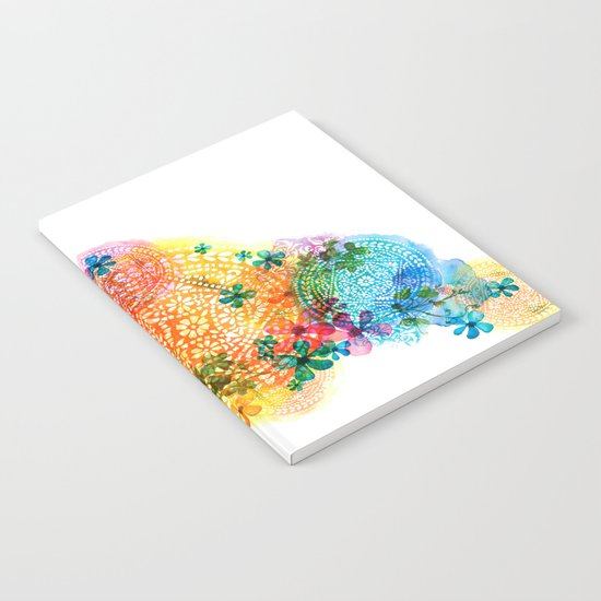 rainbow mandala cloud Notebook