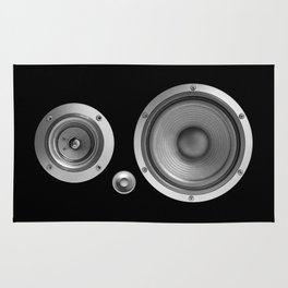 Subwoofer Speaker on black Rug