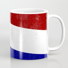 Netherlands Distressed Halftone Denim Flag Coffee Mug