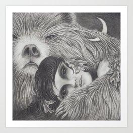 The Night is a Black Bear Art Print