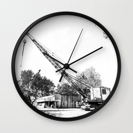 An old crane Wall Clock