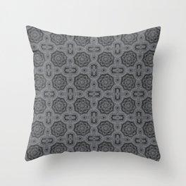 Sharkskin Doily Floral Throw Pillow
