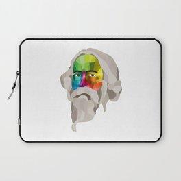 Rabindranath Tagore - popart portrait Laptop Sleeve