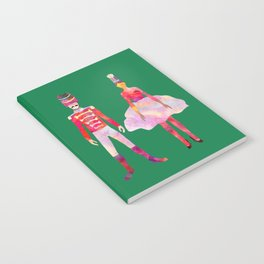 Nutcracker Ballet - Candy Cane Green Notebook