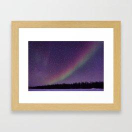 Nighttime Rainbow Framed Art Print