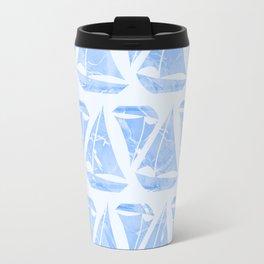 Blue Sailing Boats Water Pattern Travel Mug