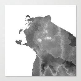 graphic bear II Canvas Print
