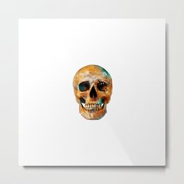 Painted Skull Metal Print